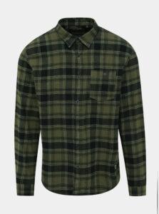 Zelená flanelová kockovaná košeľa Shine Original