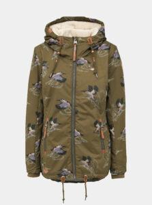 Kaki dámska vzorovaná nepromokavá zimná bunda Ragwear Zuzka