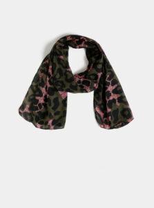 Kaki šatka s leopardím vzorom M&Co