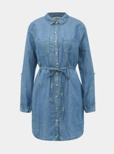 Modrá dámska dlhá košeľa Haily´s Manja