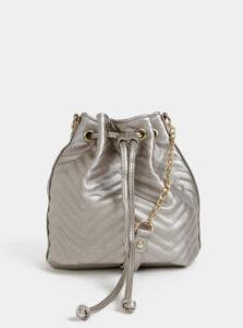 Béžová vaková crossbody kabelka s metalickými odleskami Haily´s Tina