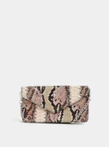 Béžová listová kabelka s hadím vzorom Haily´s Soni