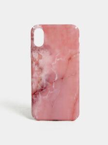 Rúžový vzorovaný obal na iPhone X/XS VERO MODA Desk