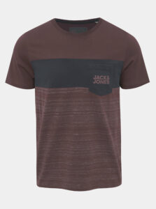 Fialové tričko s potlačou Jack & Jones Scoop