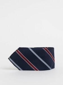Tmavomodrá pruhovaná kravata Jack & Jones Brandon