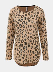 Béžový dámsky sveter s leopardím vzorom Haily´s Luzy