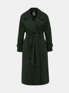 Tmavozelený kabát Dorothy Perkins Petite