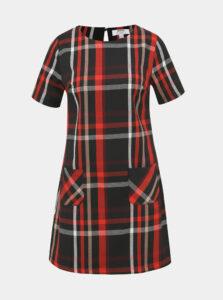 Červeno-čierne kockované šaty Dorothy Perkins Petite