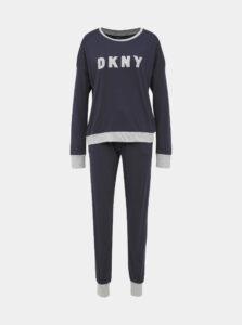 Tmavomodré dvojdielne pyžamo DKNY