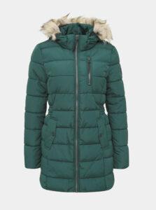 Zelený zimný prešívaný kabát ONLY North