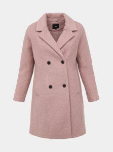 Rúžový vlnený kabát Zizzi Valdine