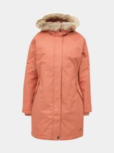 Tehlová nepromokavá dlhá zimná bunda Roxy Shadow