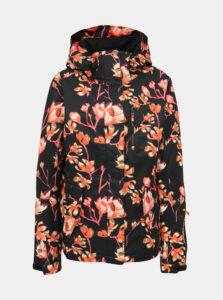 Čierna kvetovaná funkčná zimná bunda Roxy Jetty