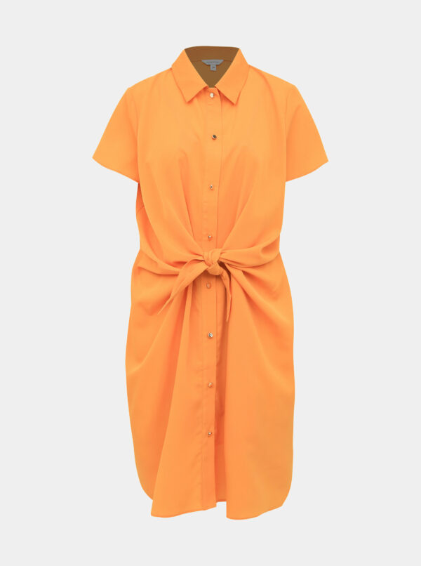 Oranžové košeľové šaty M&Co