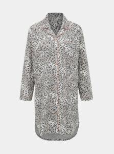 Šedá nočná košeľa s leopardím vzorom M&Co