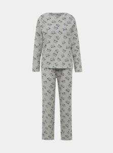 Šedé vzorované dvojdielne pyžamo M&Co