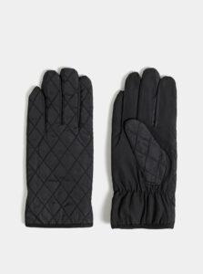 Čierne prešívané rukavice M&Co