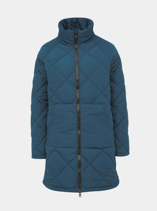 Modrá prešívaná zimná bunda Noisy May Malcom