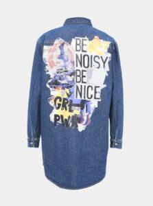 Modrá rifľová košeľa Noisy May Beata