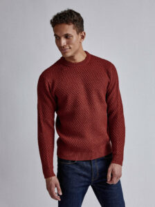Hnedý sveter s prímesou vlny Burton Menswear London