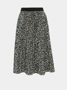 Béžová sukňa s leopardím vzorom Haily´s Amelie
