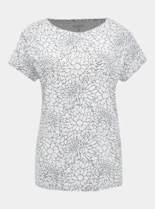 Biele dámske kvetované tričko SAM 73
