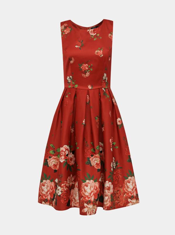 Červené kvetované šaty Dolly & Dotty Annie