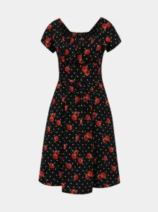 Čierne vzorované šaty Dolly & Dotty Satin