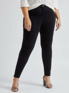Čierne menčestrové nohavice Dorothy Perkins Curve
