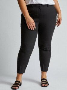 Čierne skrátené nohavice Dorothy Perkins Curve