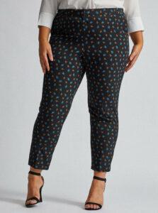 Čierne kvetované nohavice Dorothy Perkins Curve