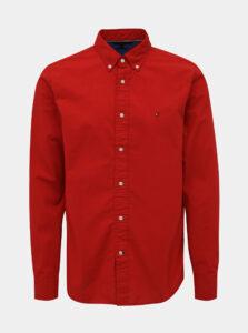 Červená pánska regular fit košeľa Tommy Hilfiger Classic