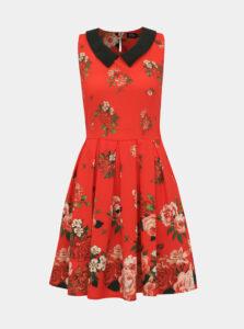Červené kvetované šaty Dolly & Dotty Anette