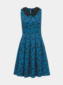 Modré bodkované šaty Dolly & Dotty Anette