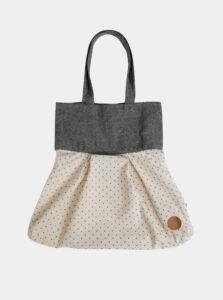 Šedo-béžová bodkovaná plátená taška Tranquillo Chloe