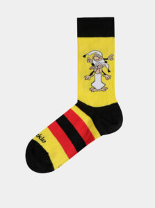 Žlté vzorované ponožky Fusakle Kremienok a Chocholusik
