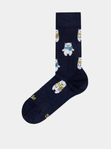Tmavomodré vzorované ponožky Fusakle Macik ladovy