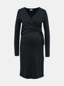 Tmavomodré tehotenské/dojčiace šaty Mama.licious Paulina