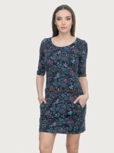 Fialovo-modré kvetované šaty Ragwear Tanya