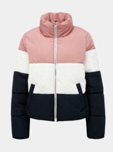 Modro-ružová prešívaná zimná bunda Jacqueline de Yong Erica