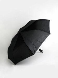 Čierny skladací vystrelovací dáždnik so svetlom Something Special