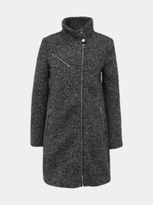 Šedý vlnený kabát VERO MODA Darling