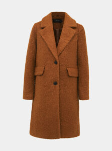Hnedý kabát VERO MODA Diana