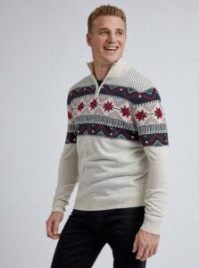 Béžový sveter s vianočným motívom Burton Menswear London