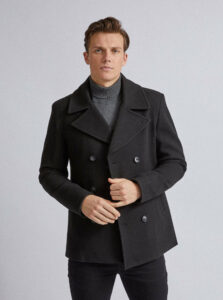 Čierny kabát Burton Menswear London
