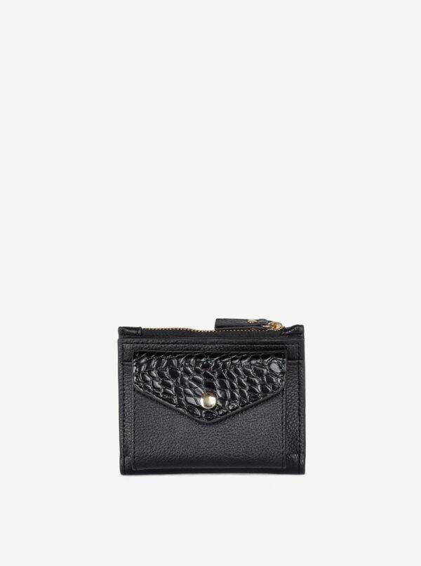 Čierna peňaženka s krokodýlím vzorom Dorothy Perkins