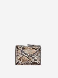 Béžová peňaženka s hadím vzorom Dorothy Perkins