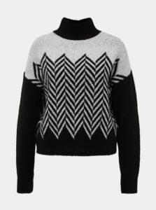 Bielo-čierny vzorovaný sveter TALLY WEiJL Bambu