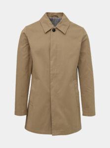 Béžový kabát Jack & Jones Leister