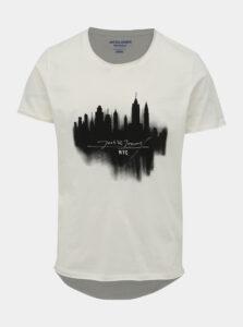 Krémové tričko Jack & Jones Dark